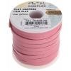 Flat Leather 5X2mm (10m Spool) Pink